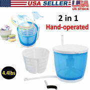 Portable 2kg Hand-operated Mini Washing Machine Compact Spin Dryer Traveling Us