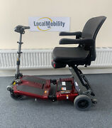Red Luggie Folding Mobility Scooter Super Model 1313 Serviced And Tested