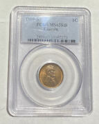 Small Cents Lincoln Wheat Ears Reverse 1909 S Pcgs Ms-63 Rb Lincoln