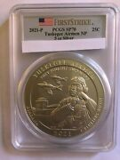 2021 Tuskegee Airmen National Historic Site Uncirculated 5 Oz Pcgs Sp70 Fs