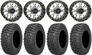System 3 St-3 Machined 14 Wheels 28 Trail Saw Rt Tires Can-am Defender