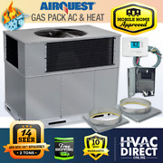 2 Ton 14 Seer 60k Btu Airquest-heil By Carrier Gas Package Unit | Install Kit