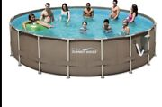Summer Waves Elite 18and039 X 48 Above Ground Swimming Pool With Pump Filter Ladderandnbsp