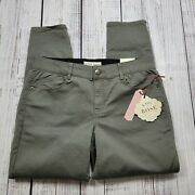 Knox Rose Womenand039s Dusty Green Ankle Skinny Pants Size 12 Comfort Waist