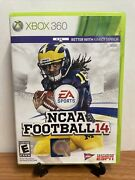 🔥ncaa Football 14 Xbox 360, 2013 With Inserts Vg Tested - Fast Ship🔥
