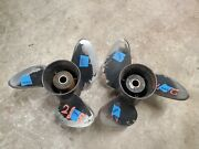 Pair Of 14 3/4 X 19p Omc Evinrude Johnson Sst Stainless Propellers P5447 P5448