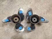 Pair Of 14 3/4 X 19p Omc Evinrude Johnson Sst Stainless Propellers P5449 P5450