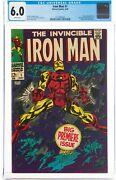 🔥 Iron Man 1 Cgc 6.0 1968 White Pages Key 1st Own Title And Gene Colan Art🔥