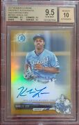 2017 Bowman Chrome Khalil Lee Gold Refractor Auto 43/50 Gem Mint 9.5 + Auto 10