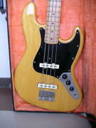 Fernandes Jazz Model Fjb65 Dots Inlays Natural Electric Bass Guitar Sold As Is
