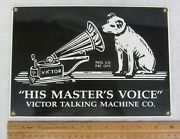 Vtg Rca Victor His Masters Voice Porcelain Enameled Advertising Sign Ande Rooney