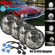 4pcs 5-3/4 5.75 Led Projector Headlights Drl Fit For Corvettes Impala Chevy