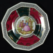 Fragonard Andldquolove Story Courting Couple Germany Reticulated Porcelain Plate 105