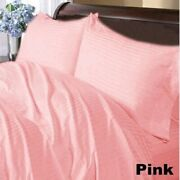 Cushy Bedding Duvet Collection Pink Striped 1000tc Egyptian Cotton All Us Size