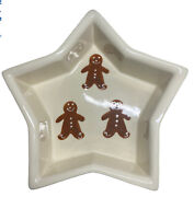 Noble Excellence Hartstone Pottery Gingerbread Star Shaped Baking Dish 8