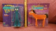 Vintage Large Bendable Gumby And Pokey Prema Toy Co New In Sealed Packaging