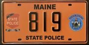 2010 Andlsquos Maine Police License Plate
