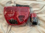 Milwaukee 48-59-2420 M12andtrade 2.0ah Cp Battery And Charger Starter Kit