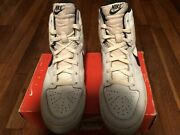 Nike Vintage Sky Force High White/black Size 10 No Top To The Box