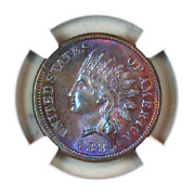 1885 Ms62 Bn Ngc Indian Head Penny Premium Quality Monster Toning