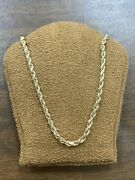 Solid 14kt Yellow Gold Rope Necklace Chain - 21 Long - 2.2 Mm Wide