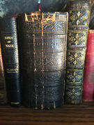 Book Of Common Prayer And New Testament Antiquarian Miniature Silver Clasp 1870