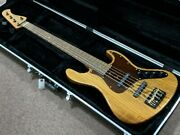 bacchus Woodline Dx5ac Urushi Lacquer Electric Bass Guitar Shipped From Japan