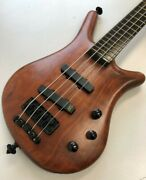 Warwick Thumb 4 Mec Ebony Electric Bass Guitar Made In Germany With Soft Case