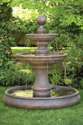 62 Opal Two Tier Fountain With Pool Outdoor Cement