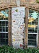 Huge Haunted Mansion Holiday Nightmare Before Christmas Formula Scroll Art Prop