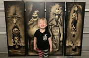 Giant Haunted Mansion Holiday Nightmare Before Christmas Giclees Disneyland 50th
