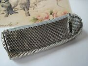 Whiting And Davis Silver Mesh Cosmetic Bag