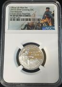2021-s Ngc Pf69 Washington Crossing Quarter .999 Silver Proof First Releases