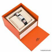 Authentic Hermes Noir Medor 23 Watch With Stainless Steel Hardware