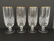 Stemware Longchamp Gold By Cristal Dand039arques-durand Set Of 4 - 7 1/2andrdquo T Crystal
