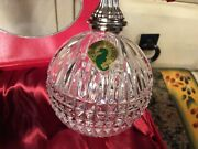 Waterford Crystal 2013 Lismore Annual Ball Christmas Ornament Euc, In Box
