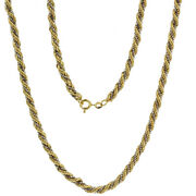 18k Yellow And White Gold Handmade Fancy Rope Venetian Box Link Chain Necklace