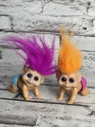 Vintage New Ray Plastic Crawling Baby Troll Toys Wind Up Working Hyi 1992