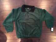 Weatherproof Menand039s Green Fleece Jacket With Pockets Size L Large New Nwt