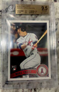 2011 Topps Update Us175 Mike Trout Bgs 9.5 Rc Error Missing Topps Logo Foil