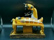 Antique Egyptian Anubis Embalming Pharaoh Mummy Statue Egyptian God Dead Guide