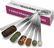 7 Pcs Stainless Steel Measuring Spoons Set Kitchen Tools For Cooking Baking