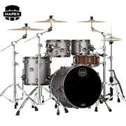 Mapex Saturn Evolution Fusion 4-piece Birch Shell Pack Grey Metal Grey Lacquer