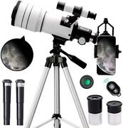 Toyerbee Telescope For Kids Ands Andbeginners,70mm Aperture 300mm Astronomical Refra