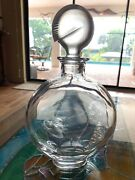Exquisite Baccarat Crystal Decanter W/ Nautilus Sea Shell Stopper