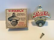 """The Starr """"x"""" Pepsi-cola Stationary Wall Mounted Bottle Opener"""