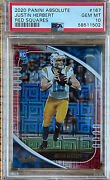 Psa 10 Justin Herbert 2020 Absolute Red Squares Rookie Sp 184/ 199. Pop Only 5