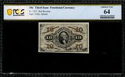 Fr-1251 0.10 Third Issue Fractional Currency - 10 Cent - Pcgs 64
