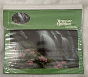Vintage 80s Trapper Keeper Mead Binder Waterfall Scene Photography 296096