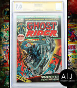 Ghost Rider 1 Fn/vf 7.0 Marvel Cgc Signature Series Signed Stan Lee
